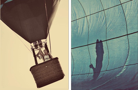 Необычные места для свадьбы: воздушный шар