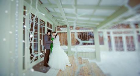 Декабрьская свадьба: фотосессия