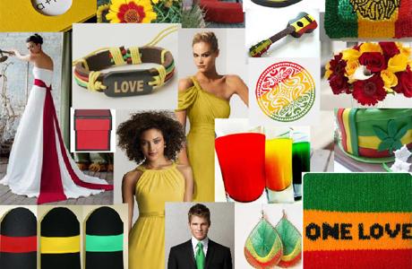 Регги-свадьба - цветовая гамма