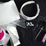 Чтобы сделать свадебную вуаль на ободке, тебе будет нужно: