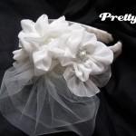 Свадебная вуалька на ободке готова!