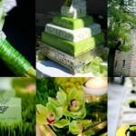 Свадьба в зеленом цвете - эко-свадьба на природе