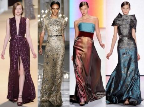 Вечерние платья из разных тканей.  Ткани для вечерних платьев на зимнюю...