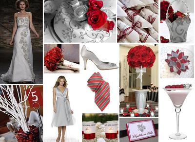 Цветовые решения для свадьбы зимой