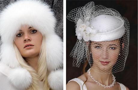 Зимний головной убор для невесты
