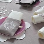 Тканевые салфетки тоже лучше выбрать белого цвета