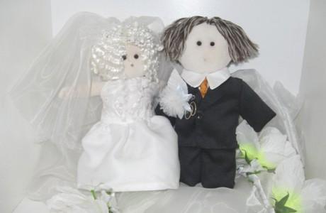 Куклы для украшения свадебного кортежа