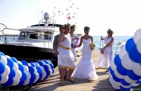 Необычная свадьба в античном стиле