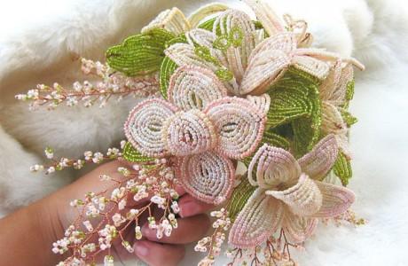 Букет невесты из бисера «Оригинальная альтернатива»
