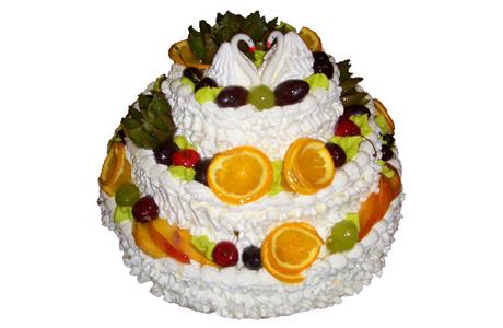 Постные свадебные торты