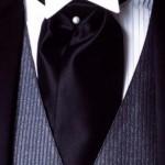 Удлиненный шейный платок с жемчужной булавкой