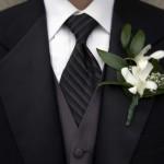 Классический галстук в торжественном стиле
