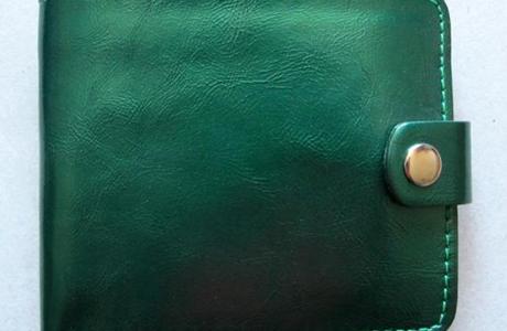 Кошелек зеленого цвета