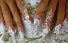 Маникюр невесты на новгоднюю свадьбу 2012