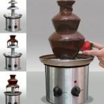 Закажи на фирме шоколадный фонтан и необходимое количество шоколада для него