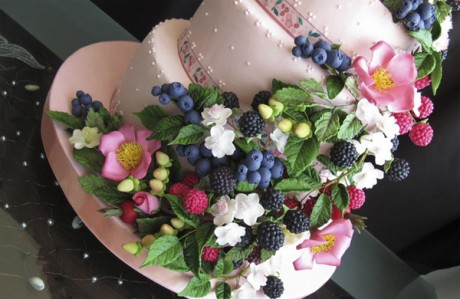 Постный свадебный торт