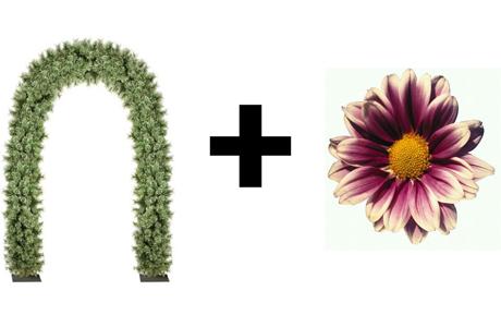 Свадебная арка из хвои и цветов