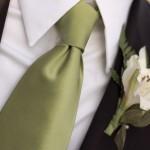 Однотонный галстук не кричащего оттенка