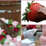 Окуни клубничку в шоколад