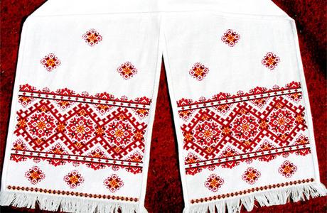 Свадебный рушник из центральной Украины