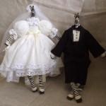 Свадебные куклы-зебры