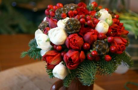 Букет невесты «Новогодняя елка»