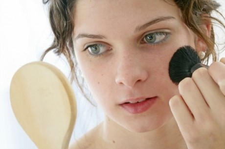 Свадебный макияж - румяна