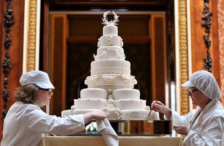 Свадебный торт английских монархов