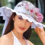 Вязаная шляпка невесты
