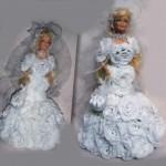 Вязаные куклы-красавицы