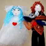 Жених и невеста в оригинальном народном стиле