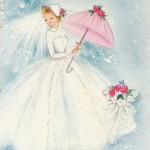 Невеста в шляпке и с зонтиков - вот она, красота!
