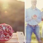 Для тематической свадьбы и кольца можно подать во фрукте, например в гранате