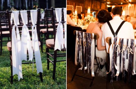 Свадебный декор с помощью лент
