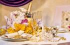 Зимняя свадьба - украшение столов