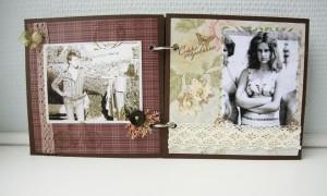 Свадебный фотоальбом в ретро стиле