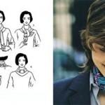 Аккуратно и строго завязать шарф можно только