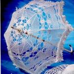 Кружевной зонт для невесты