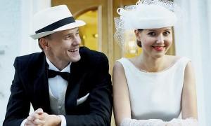 Свадебная прическа в стиле ретро