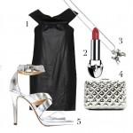 Черное платье и аксессуары в серебре создают аристократический образ, перед которым все снимают шляпы