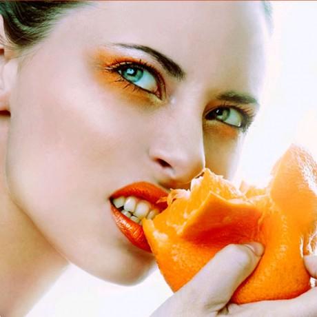 Свадебный макияж в оранжевых тонах