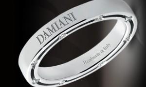 Обручальное кольцо с бриллиантами от Damiani