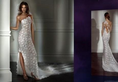 Роскошное вязаное свадебное платье