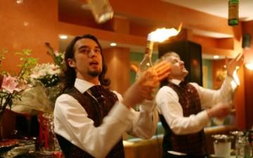 Бармен-шоу на свадьбе (видео)