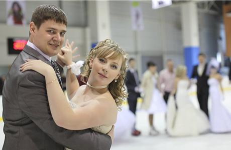 Свадебная церемония на катке