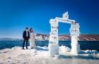 Выездная свадебная церемония зимой