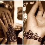 Расписать хной запястья невесты - оригинальный вариант браслетов