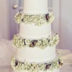 Оформить зимний торт можно и с помощью сладких бабочек.