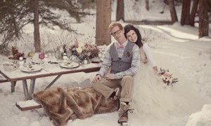 Зимняя свадьба на открытом воздухе
