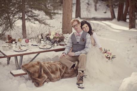 Свадьба на открытом воздухе зимой
